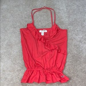 Hollister coral cross back top